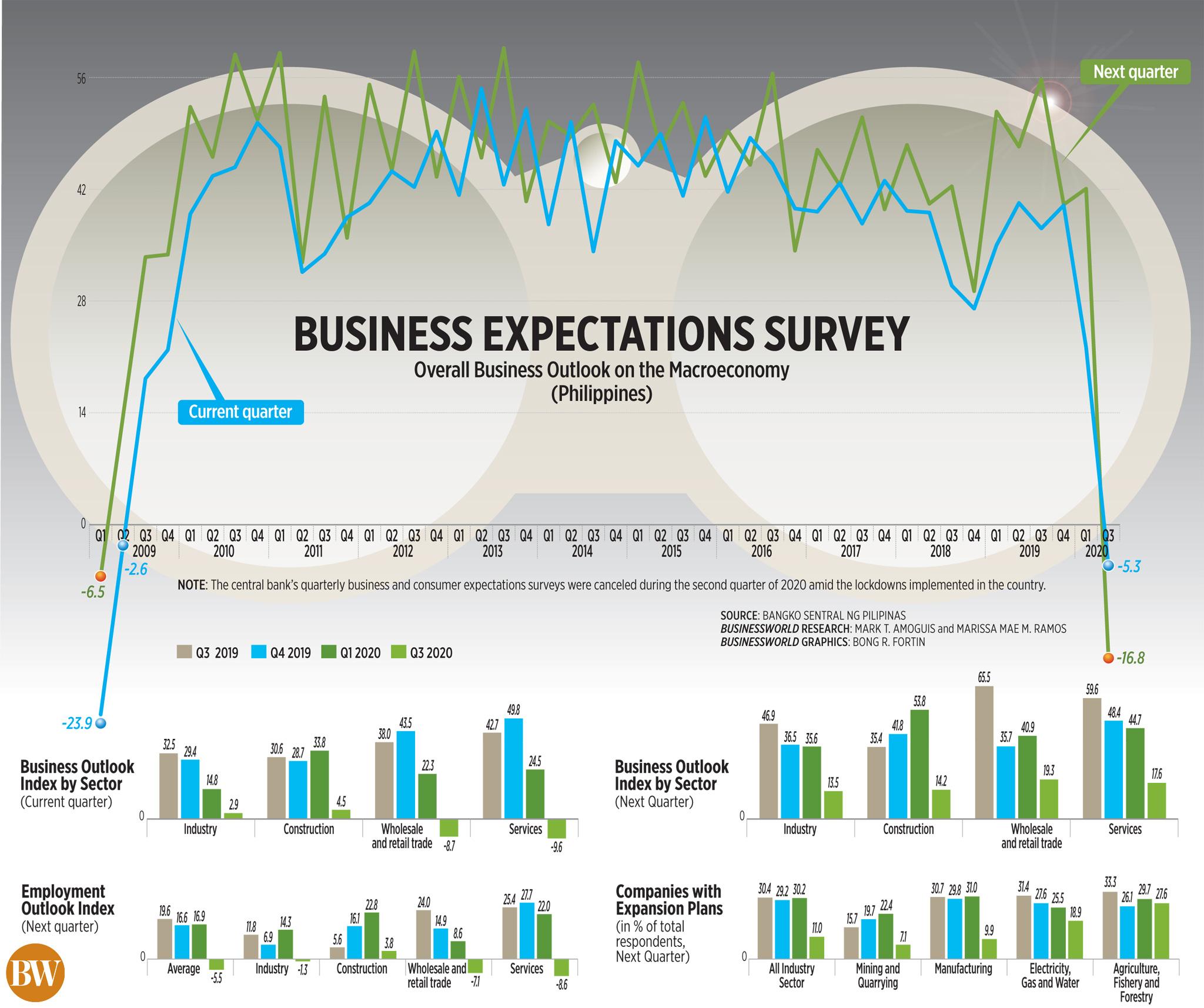 Business expectations survey (Q3 2020)