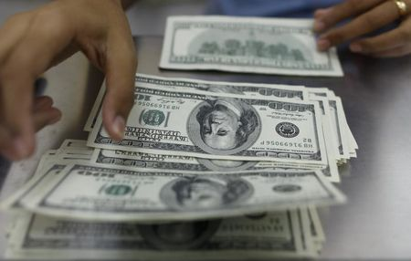 Dollar Edges Higher; Chinese Data, Uncertain U.S. Political Situation Help